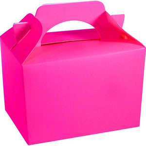 Neon Pink Party Food Gift Toy Favor Cake Boxes