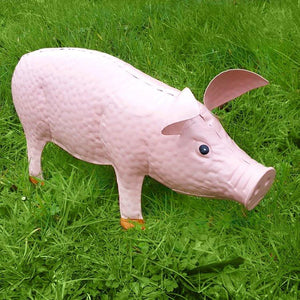 Pig Metal Garden Statue Outdoor Ornament