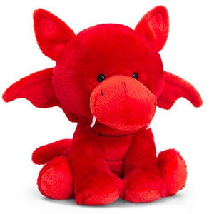 14cm Welsh Dragon with sewn in badge cuddly plush soft toy