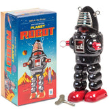Retro Tin Mechanical Robot Toy Black