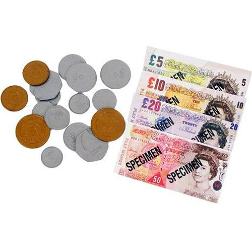 Play Money set with assorted coins and notes