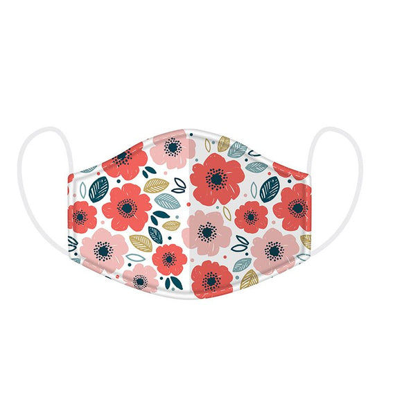 Poppy Fields Reusable Face Mask Covering - Large 23 cm x 13 cm