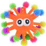 Orange Squeezy Flashing Monster Sensory Toy