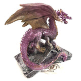 Purple Dragon Standing on Book Figurine Statue Gift