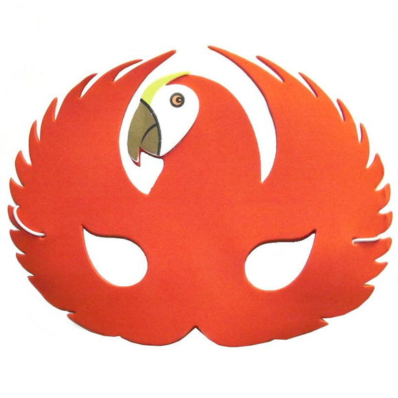 Children's Red Parrot Face Mask for Fancy Dress