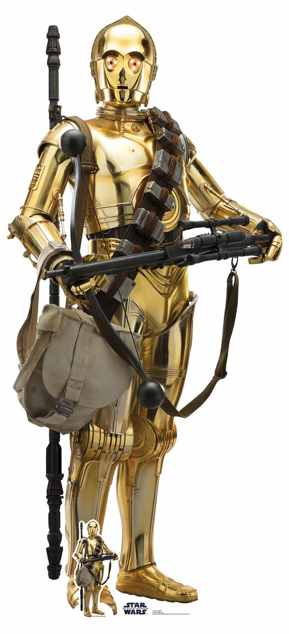 Star Wars C-3PO Lifesize Cutout The Rise of Skywlaker