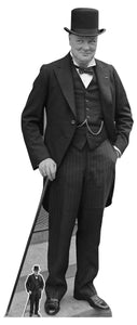 Winston Churchill  Life Size Cutout with Free Mini Cutout