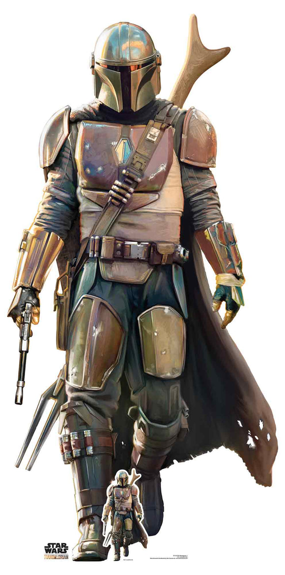 Star Wars The Mandalorian Lone Gunfighter Lifesize Cardboard Cutout