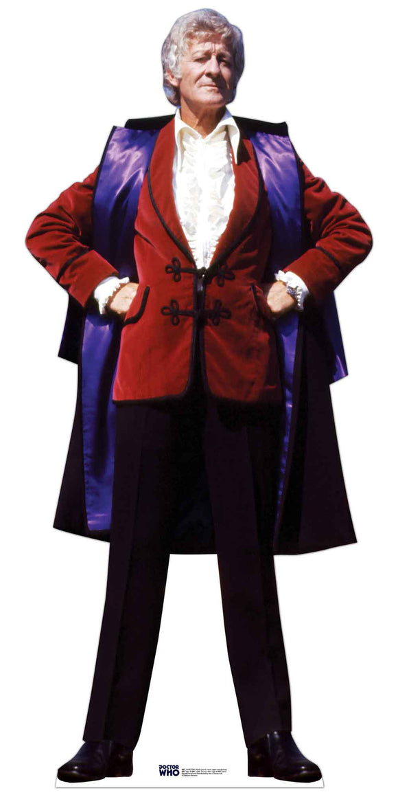 Jon Pertwee (3rd Doctor) Official Doctor Who Lifesize Cardboard Cutout