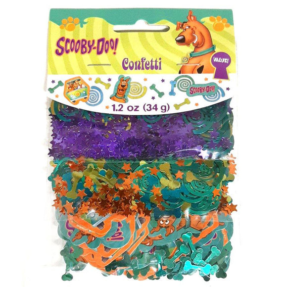 This Scooby Doo confetti pack contains 3 different types of confetti - 1.2oz (34g) in total.  Perfect for a Scooby Doo themed party!