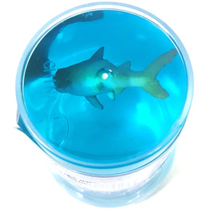 Shark Toy in a pot of Blue Slime Pocket Money Toy Party Bag Filler Favor