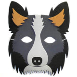 Sheepdog collie foam children's masks perfect for schools and groups