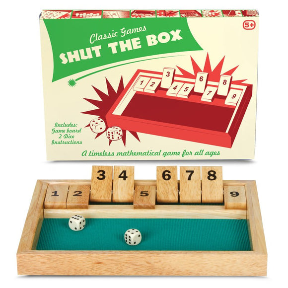 Shut The Box Fun Family Game