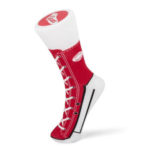 Red Sneaker Silly Socks UK Size 5-11 Adult