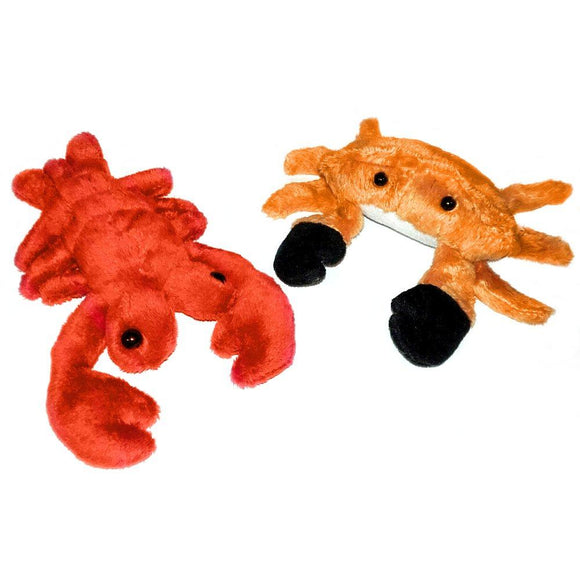 Lobster and Crab Cuddly Plush Sea Life Soft Toy Set