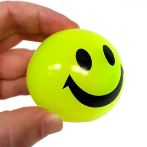 Squeezy Light Up Flashing Smiley Face Bouncy Ball