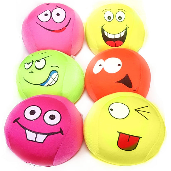 Squashy Face Ball Sensory Toy in 4 colours