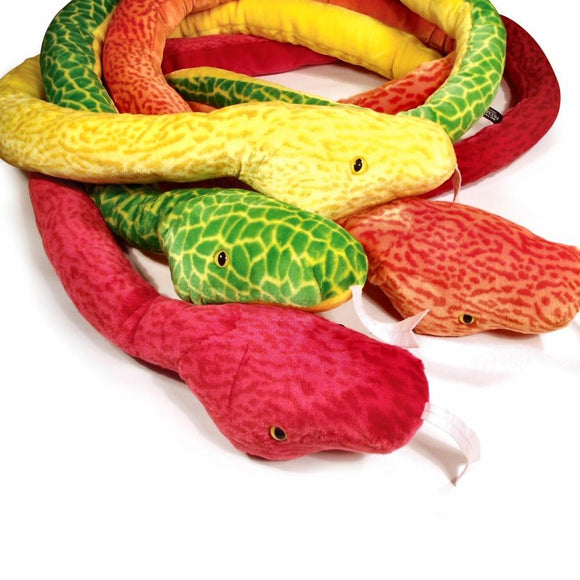235cm Giant Cuddly Soft Toy Snake Choice of 4 colours