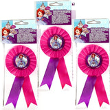 Set of 3 Disney Sofia the First Award Ribbons - Party Birthday Reward Favours