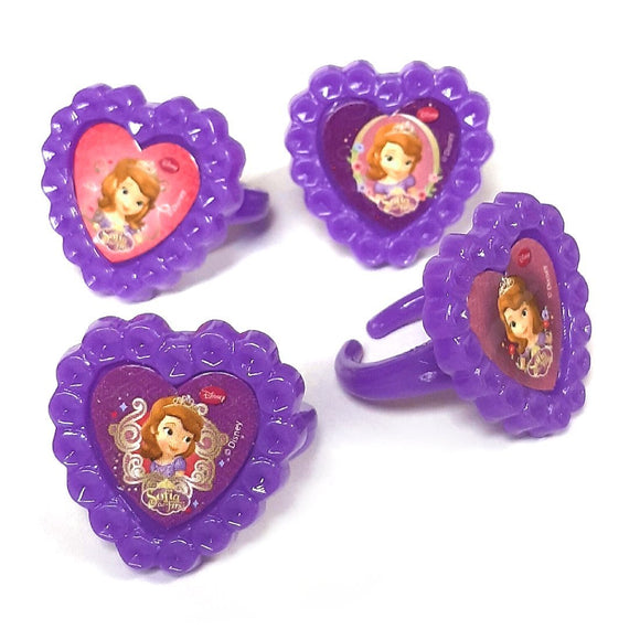 Sofia the First Rings pack of 12 party bag filler favors