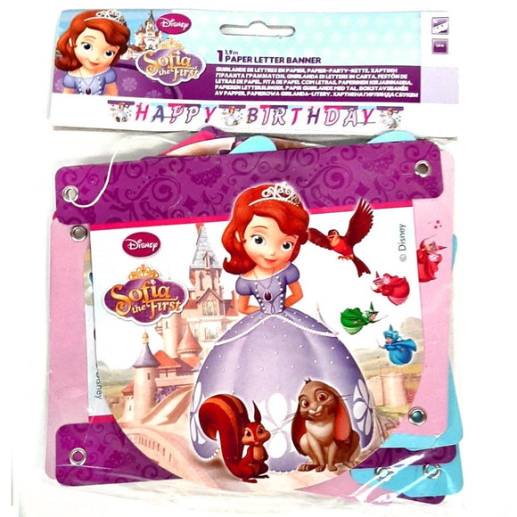 Sofia the First 'Happy Birthday' Letter Banner