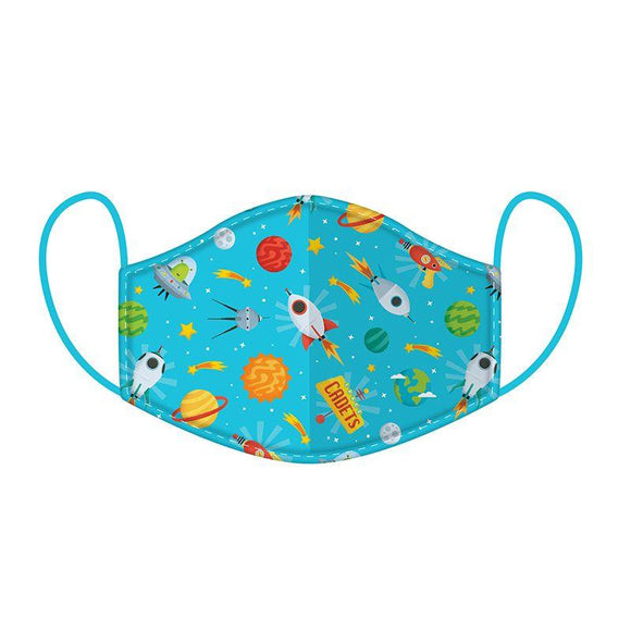 Space Cadet Reusable Two Layer Face Mask Covering - Small 20 cm x 11 cm