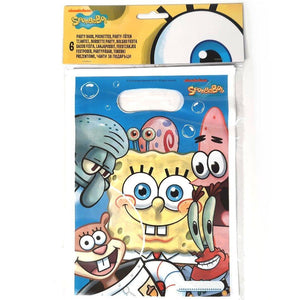 Pack of 6 Sponge Bob Square Pants Party Favor Bags