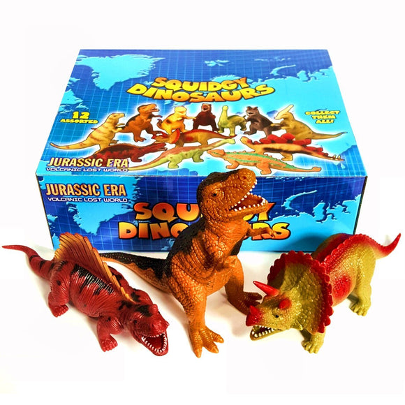 Box of 20cm Stretchy Dinosaur Toys Fundraising Ideas For Schools PTA Groups