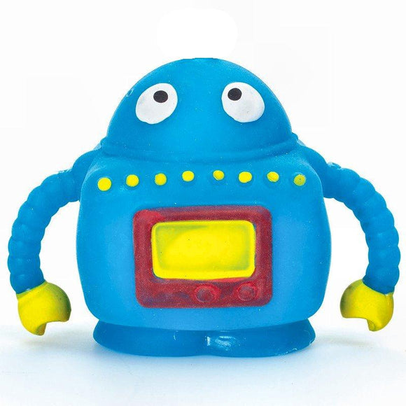 Blue Squeezy Robot sensory Pocket Money Toy Party Bag Filler Favor