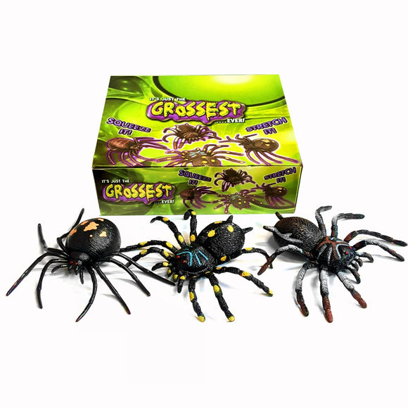 12 Squeezy Spiders Fundraising Toy Pack