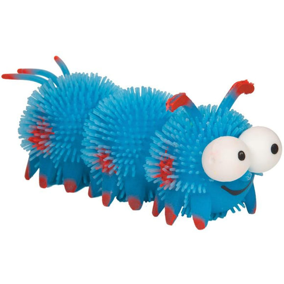 Blue Furry Fun Bug Pocket Money Sensory Toy