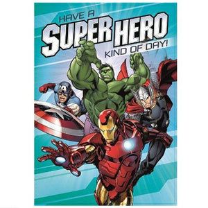 Marvels Avengers Birthday Greetings Card