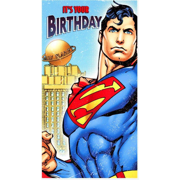Superman it's your birthday greetings card
