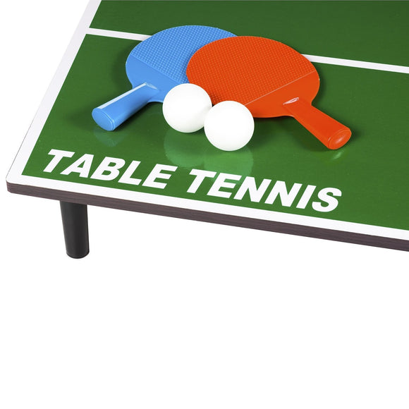 Table Top Table Tennis Game with Base, Net, 2 Bats and 2 Balls