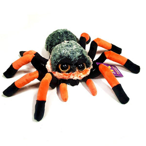 22cm Tarantula Cuddly Toy Orange and Black, suitable for all ages