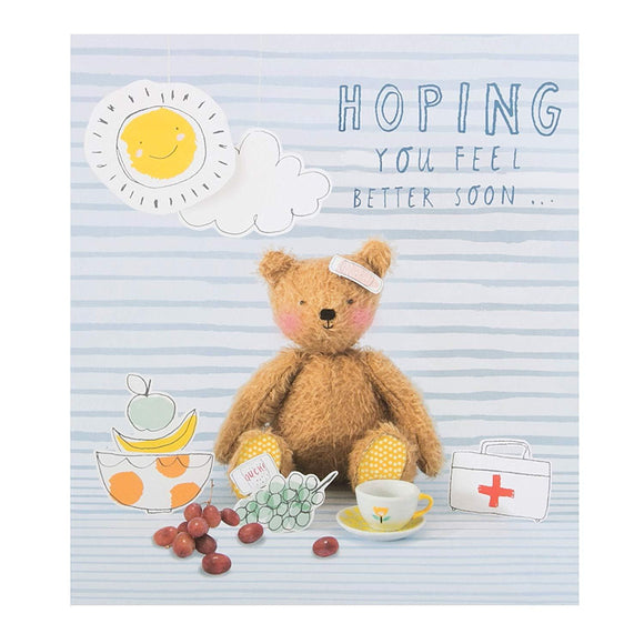 Teddy Bear Hoping you fell better soon greetings card