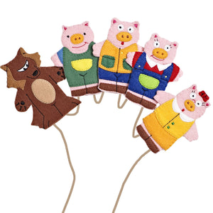 Three Little Pigs Story Time Finger Puppet Set