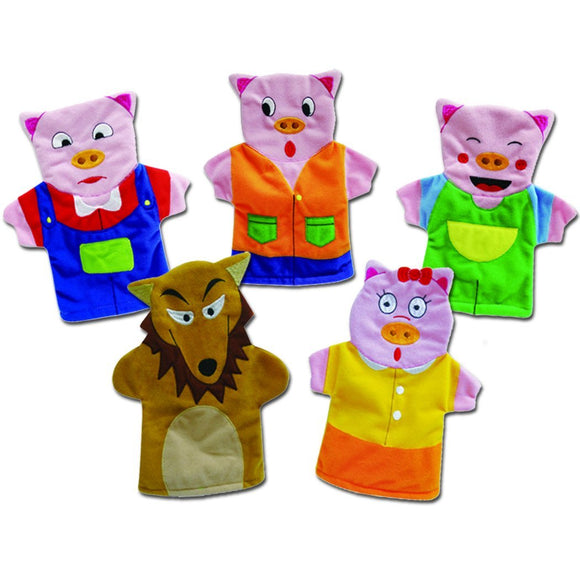 The Three Little Pigs Story Time Hand Puppet Set
