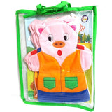 Three Little Pigs Hand Puppet Set
