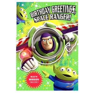 Buzz Lightyear Birthday Card