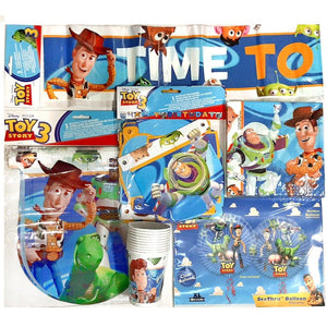 This fantastic Toy Story Party Pack for 10 people will make a bright backdrop for a Toy Story Themed Party  Includes 10 Cups, 20 Napkins, Flag Banner, Birthday Banner, 3 x Toy Story 'Time to Play Banners', & Clear Balloon (helium not included)