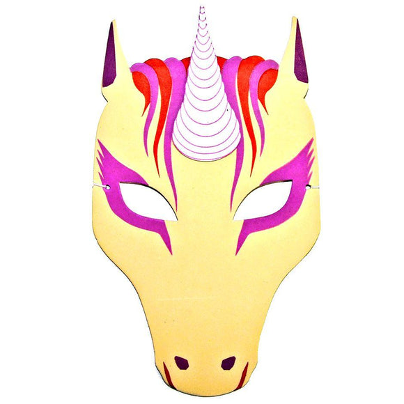 Children's Unicorn Face Mask for Fancy Dress