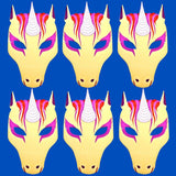 6 Unicorn Children's Foam masks ideal for parties, theaters, schools and groups