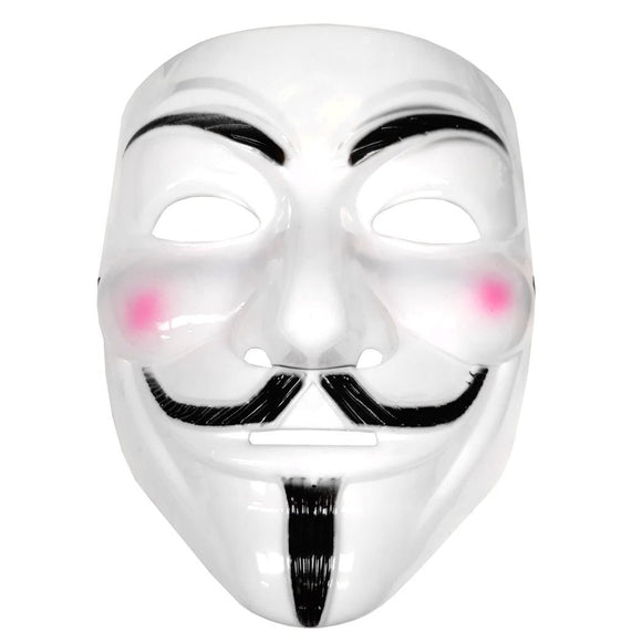 Adults Vendetta Anonymous Fawkes Mask - Fancy Dress Masquerade Party Mask