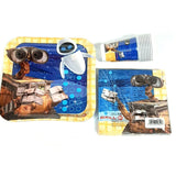 Wall-E Party Tableware Pack for 16 Guests, Plates Cups Napkins