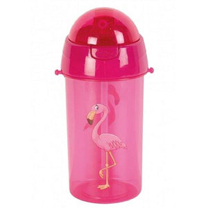 Children's 500ml Water Bottles with Carry Strap and Straw