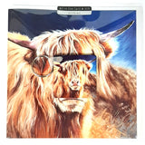 Wild Side Highland Cow Greetings Card with Gift
