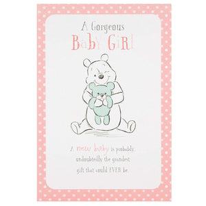 Winnie the Pooh New baby Girl Greetings Card by Hallmark