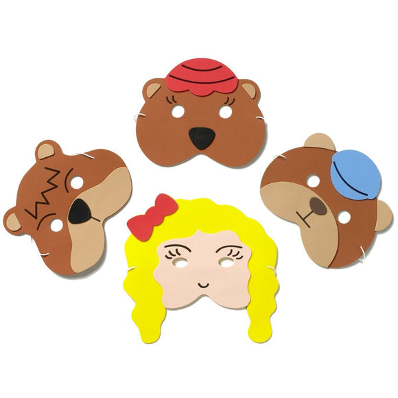 Goldilocks and The Three Bears Story Time Children's Face Mask Set
