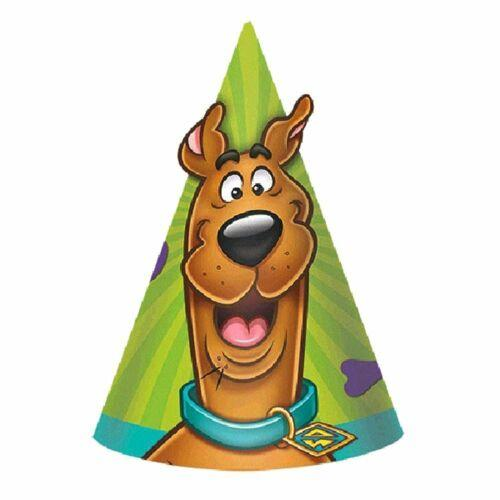 Pack of 8 Scooby Doo Cone Party Hats - Children's Birthday Parties